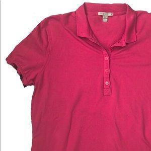 Burberry Brit Pink Nova Ruffle Sleeve Polo Shirt